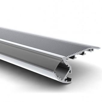 Алюминиевый профиль AP284 66,9х27,3мм (накладной для ступенек) 2м.п.