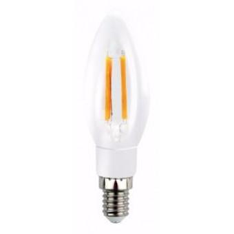 Лампа светодиодная LED С37, E14, 5W (диммируемая)