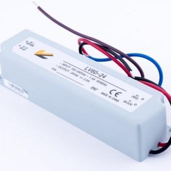 Блок питания 60W  24V  2.5A  IP67 (в пластиковом корпусе)