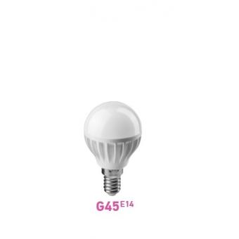 Лампа LED G45 E14 шар  7.5W 4000К (белого свечения)