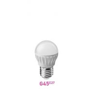 Лампа LED G45 E27 шар  7.5W 2700К (теплого свечения)