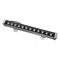 Линейный фасадный LED светильник теплый белый 12W