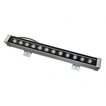 Линейный фасадный LED светильник холодный белый 12W