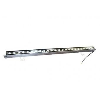 Линейный фасадный LED светильник теплый белый 24W