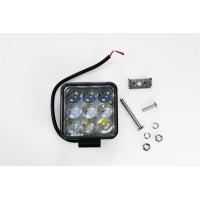 Рабочий LED свет для авто 61427T-S (дальний) 27W 10-30V  IP67 (холодного белого свечения)