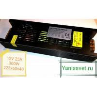 Блок питания  300W  12V  25A  IP20 узкий black