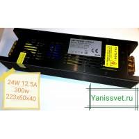 Блок питания  300W  24V  12.5A  IP20 узкий black