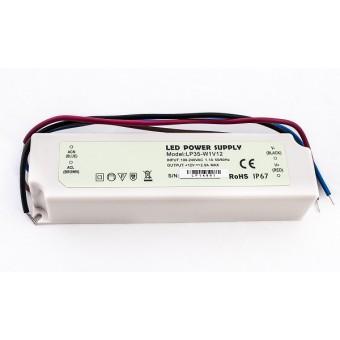 Блок питания  20W 12V  1.7A   IP67 пластик