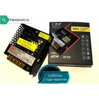 Блок питания  LUX 60W  12V  5A  IP20