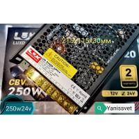 Блок питания  LUXDriver 250W  24V  10.4A  IP20 (без кулера) LEDSPOWER