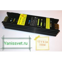 Блок питания  100W  12V  8.3A  IP20 узкий black