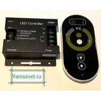 Диммер MIX CCT 12А 12V/24V  144W/288W (для ленты теплого+белого свечения) LED CRYSTAL