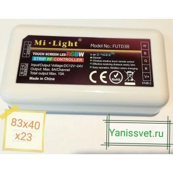 Контроллер (приёмник) RGB и RGB+W 24A 12V/24V  FUT038