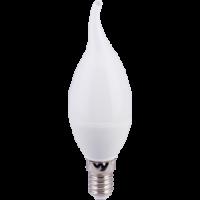 Лампа светодиодная 7.5W E14 свеча на ветру 3300К (теплого белого свечения)