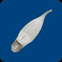 Лампа светодиодная 6W E27 свеча на ветру 2700К (теплого белого свечения)