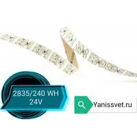 Светодиодная лента SMD2835/240 19.2w 24V IP20 (нейтрального белого свечения)