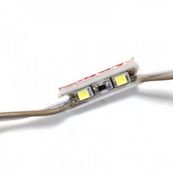 Светодиодный модуль SMD2835 2led  12V IP65 холодного белого свечения