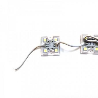 Светодиодный модуль SMD5050 4led  12V IP65 холодного белого свечения