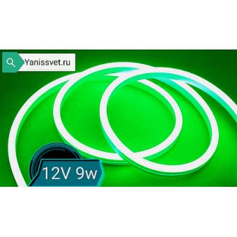 Неон 12 В LED ST 9Вт/м 8х16мм  зеленого свечения LEDSPOWER
