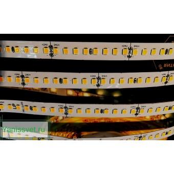 Светодиодная лента LUX LP SMD2835/128  12W  24V  IP20  (теплый белый )