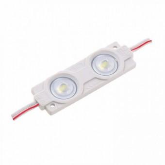 Светодиодный модуль SMD2835 2led линза 12V IP65 холодного белого свечения