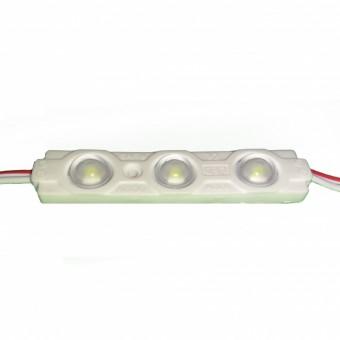 Светодиодный модуль SMD2835 3led линза 12V IP65 холодного белого свечения