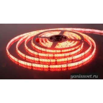 Светодиодная лента SMD 3528/60  IP65 12V  4.8w (красного свечения)