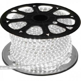 Светодиодная лента 220 вольт 3528 60, IP67, 4.8Вт (белого свечения)
