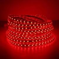 Светодиодная лента 220 вольт 3528 60, IP67, 4.8Вт (красного свечения)