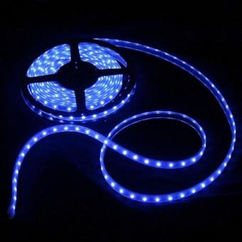 Светодиодная лента 220 вольт 3528 60, IP67, 4.8Вт (синего свечения)