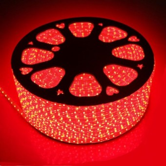 Светодиодная лента 220 вольт 5050 60, IP67, 14.4Вт (красного свечения)