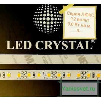 Светодиодная лента LUX  SMD2835/120  9.6W  12V  IP20  (теплого белого свечения ) LED CRYSTAL
