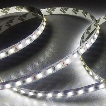 Светодиодная лента узкая SMD2835/120 24w  IP20 12V 5мм (холодного белого свечения) LEDSPOWER