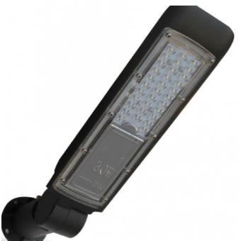 """Консольный LED прожектор """"Кобра"""" 30W с регул. углом 6000K (холодного белого свечения)"""