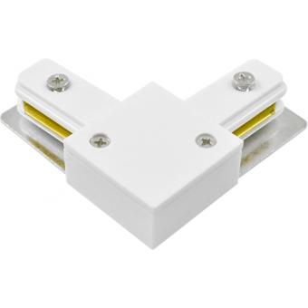 L-образный коннектор белый, черный для шинопровода